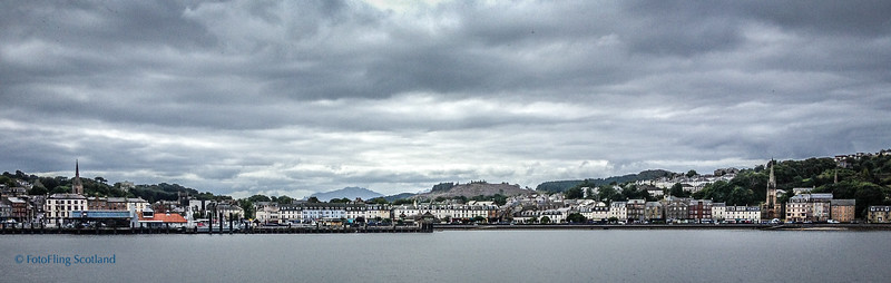Arriving in Rothesay, Isle of Bute