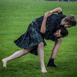 Wrestling in the Rain