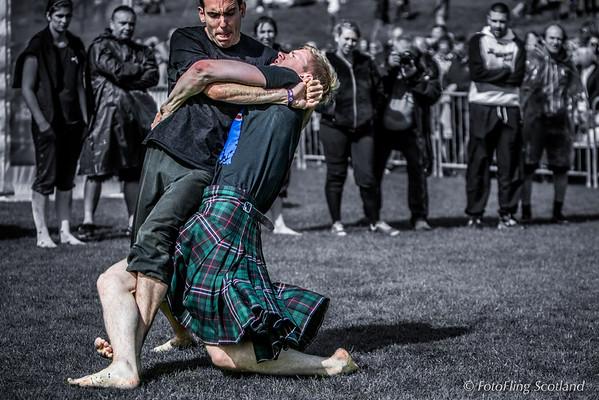 Scottish Backhold Wrestling: Hjortur Eli Steindorson (Iceland)  v Clément le Gall (Britanny)
