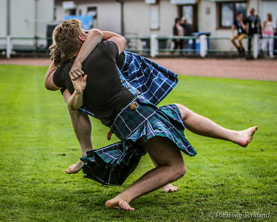 Scottish Backhold Wrestlers - Max Freyne and Mihhail Selivanov