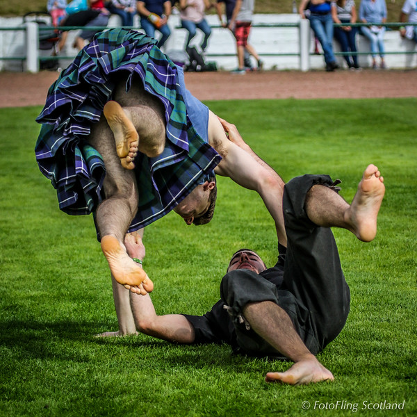 Scottish Backhold Wrestlers Greg Neilson & Clément le Gall