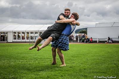 Max Freyne hoists Matthew Southwell into the air