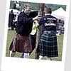Erect caber ready to be tossed