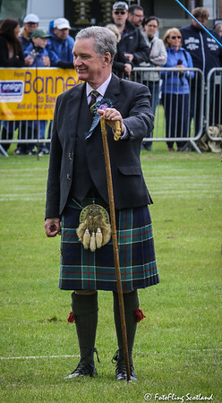 Sir Malcolm Colquhoun of Luss, Chief of Clan Colquhoun - Chieftain of Games