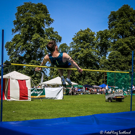 High Jump: Lee Goodfellow clears the bar