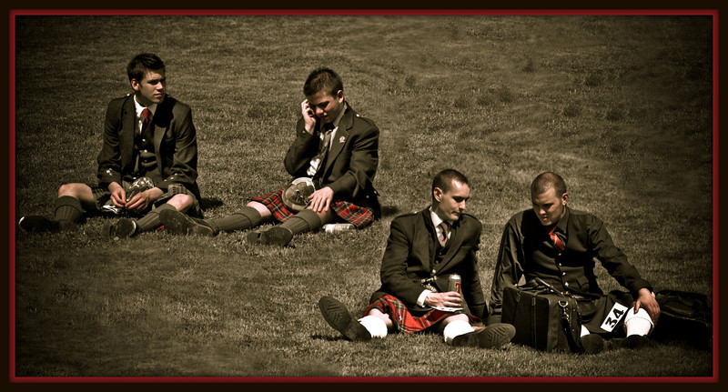 Kilties in the Grass