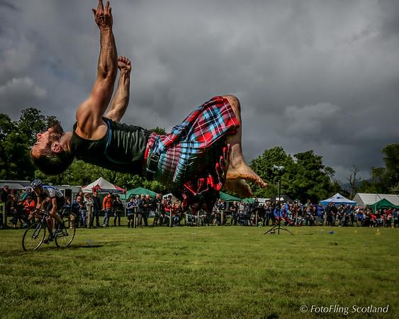 Kiltie in the air!