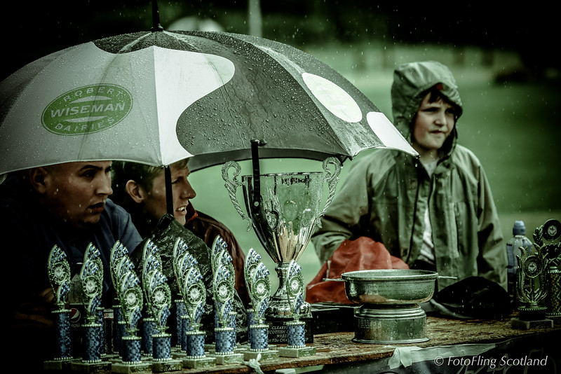 Shower of rain at Luss Highland Gathering