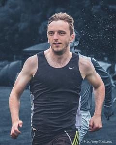 Runner in rain: Graeme Lister