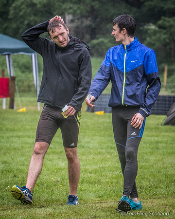 Rain Drenched Athletes