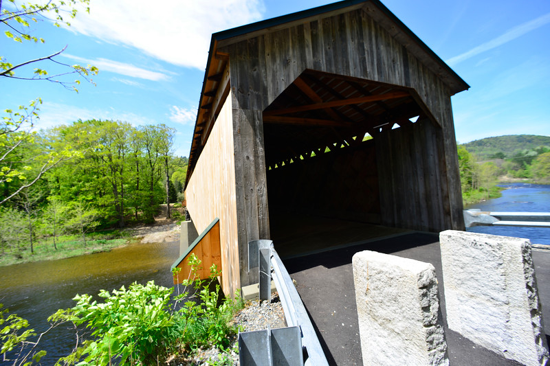KRISTOPHER RADDER - BRATTLEBORO REFORMER<br /> The Scott Bridge, a covered bridge in Townshend, is now opened to the public after a renovation project to restore the bridge.