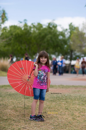 Katie umbrella down Scot fest 9118