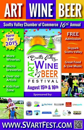 Scotts Valley Art, Wine and Beer Festival: 8/15-16/15