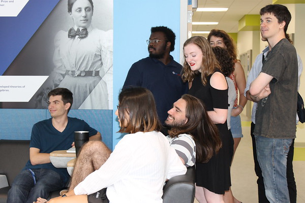 Several of Professor Scudder's current students came to show their appreciation.