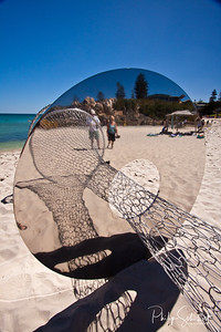 Not sure whether this image is comming or going - Sculptures by the Sea 2012