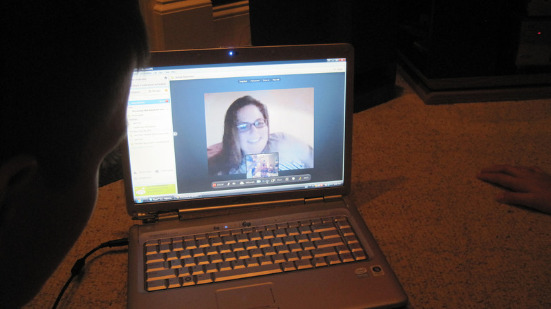 Skyping with Jenna, who's in Europe.