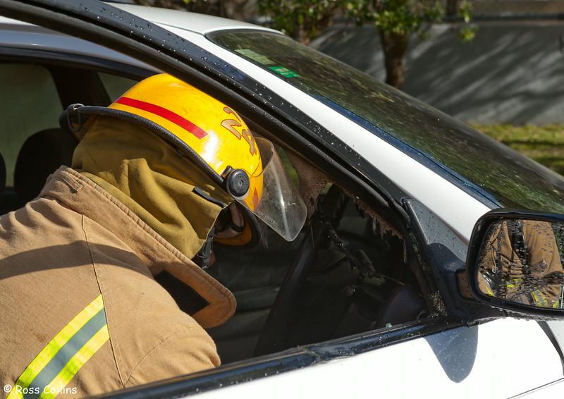 Seatoun Car Fire, Ludlam Street, Wellington, 14 March 2011