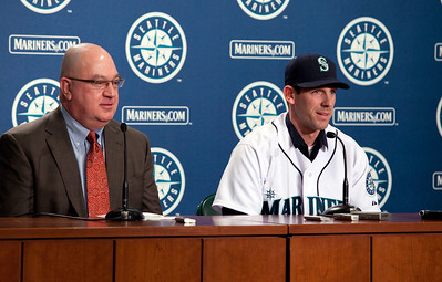 Cliff Lee and Seattle Mariner General Manger Jack Zduriencik