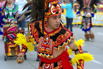 Traditional Aztec dance group Ce atl Tonalli.