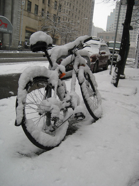 2nd Ave near Columbia St.  Looks like a cold ride home!