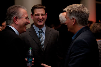 Tod Leiweke,  Damon Huard and Jim Moore