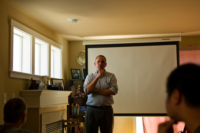 "Tim Isaac of Match Technical, maker of the ""Thumbs Up"" attachment for Leica and other cameras gave a talk."