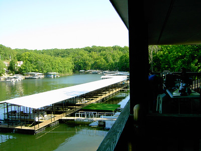 The view from the second floor balcony, looking toward the end of the cove.