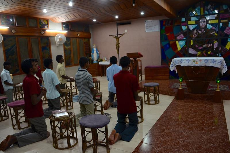 Prayer at Dehon Vidya Sadhan