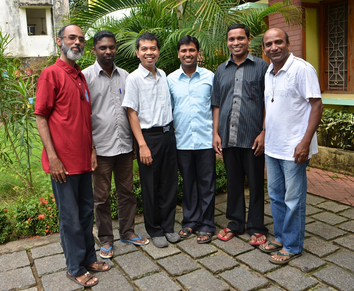 Members of the district council with Fr. Heru