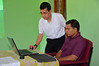 Fr. Heru works with Fr. Jose, district secretary