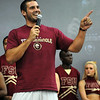 Christian Ponder speaks to students at Seminole Uprising, held on August 31, 2009 at Tully Gym.