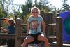Serena balancing oddly.