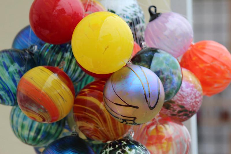 """Nothing says """"Lavender Festival"""" like glass balls..."""