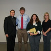 Fr. David Parsch, Aaron Handley, Danielle Dierich and Youth Minister Melissa Shields (Holy Spirit - Saginaw)
