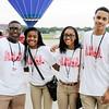 Don Knight | The Herald Bulletin<br /> Student volunteers Najee Harden, Mia Stockett, Paige McKnight and Brandon Haralson.