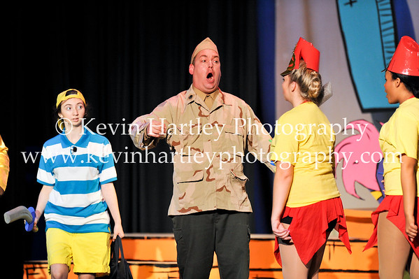 Jonathan Miller (General Schmitz) orders his troops around the stage (Kevin Hartley Photography)