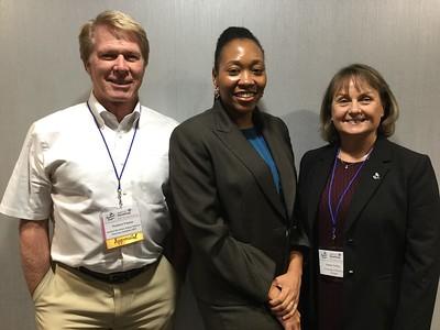 Hudson Freeze (FASEB Past President), Veronica Haywood (FASEB Travel Award Winner), Karen Colley (SfG President)