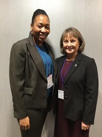 Veronica Haywood and her mentor, Karen Colley (SfG President)