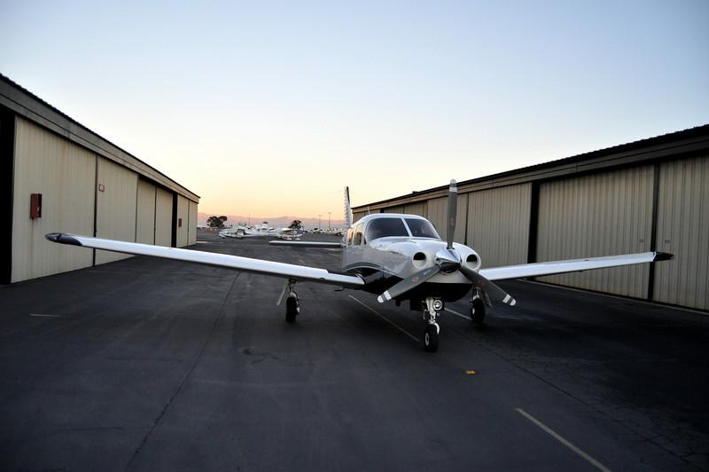 and...back at the hangar.