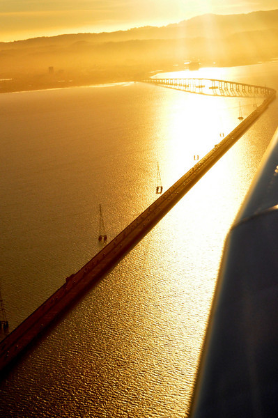 another view of the San Mateo Bridge - looking West.