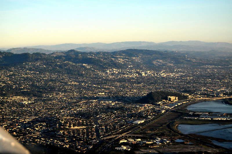 The East Bay. UC-Berkeley is near the center...