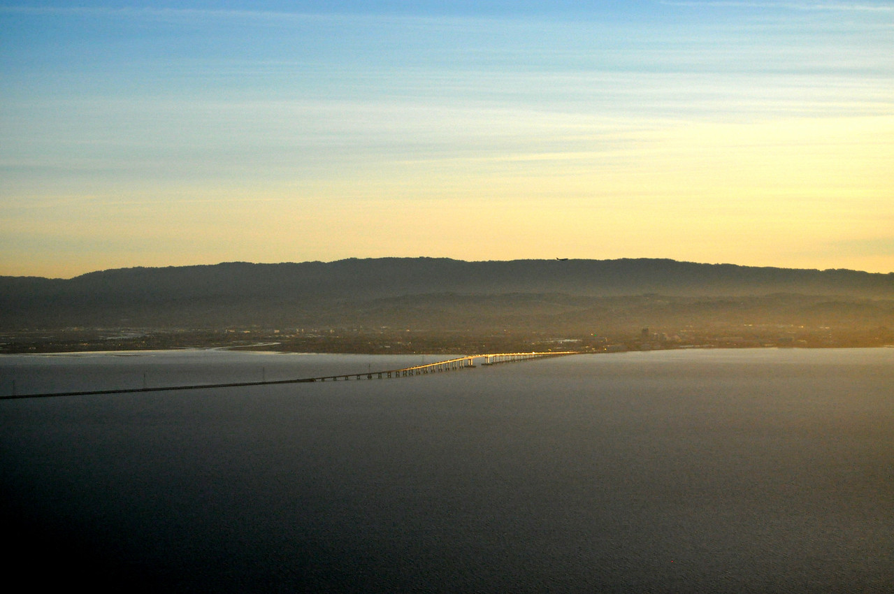 San Mateo Bridge - looking West.