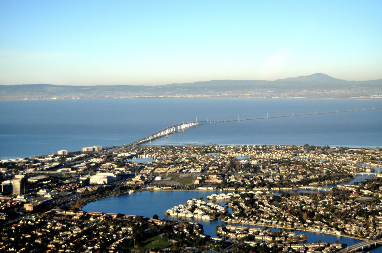 San Mateo Bridge - looking East