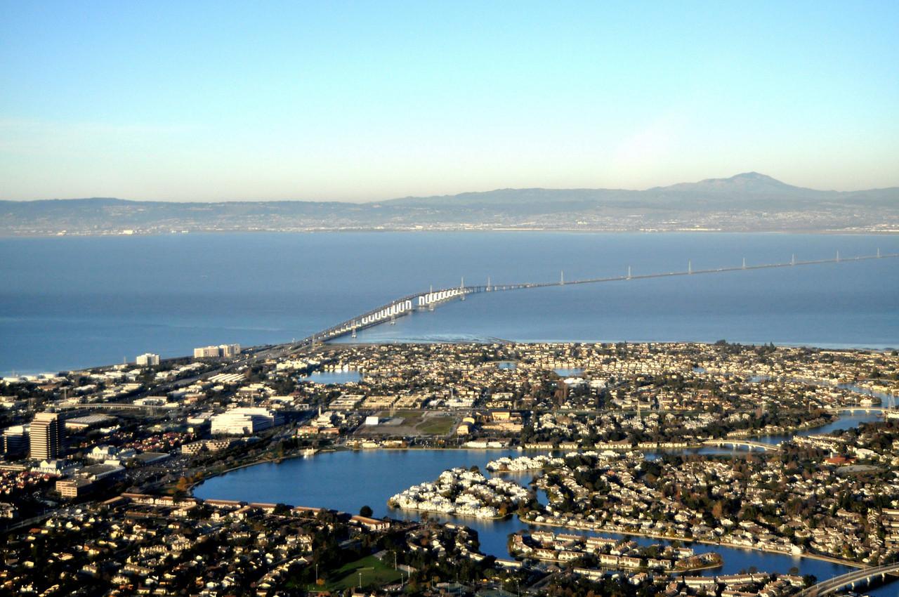 San Mateo Bridge - looking East