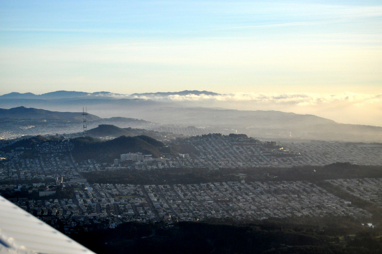 looking south over San Francisco...