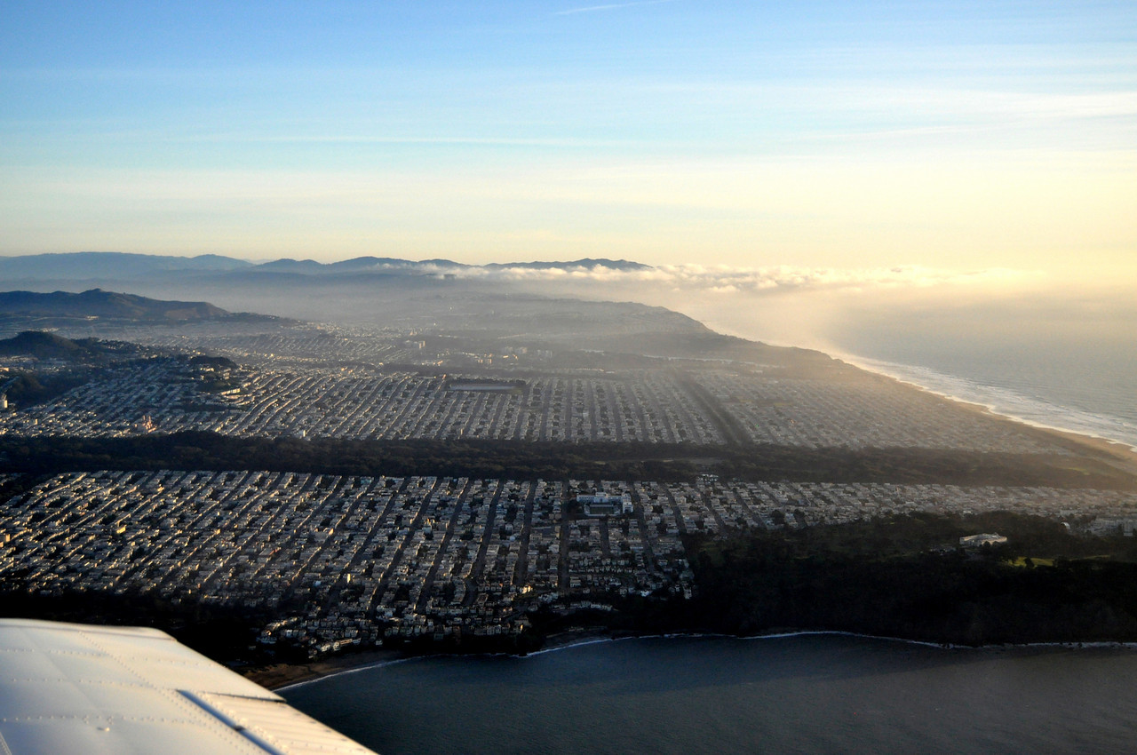 San Francisco, looking south