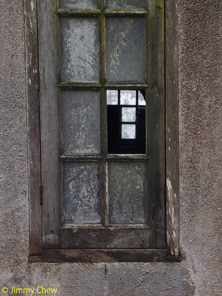 Windows thru the broken window.