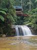 Snapshot of wooden bridge and Parit Falls.