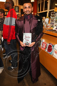 "LOS ANGELES, CA - JUNE 04:  Illustrator Aman Chaudhary dressed in clothing inspired by the ""Tsarpunk"" style of Leigh Bardugo's Grisha Trilogy poses at the ""Shadow and Bone"" book launch party at Skylight Books on June 4, 2012 in Los Angeles, California.  (Photo by Chelsea Lauren/WireImage)"
