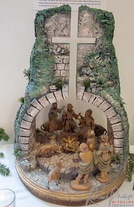 How Hollywood might depict the stable. this cave design is like the earliest dwelling in Israel.